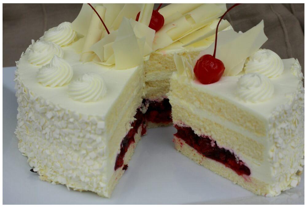 Biała czekolada z wiśniami