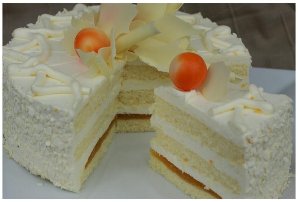 Tort cytrynowy z pomarańczą