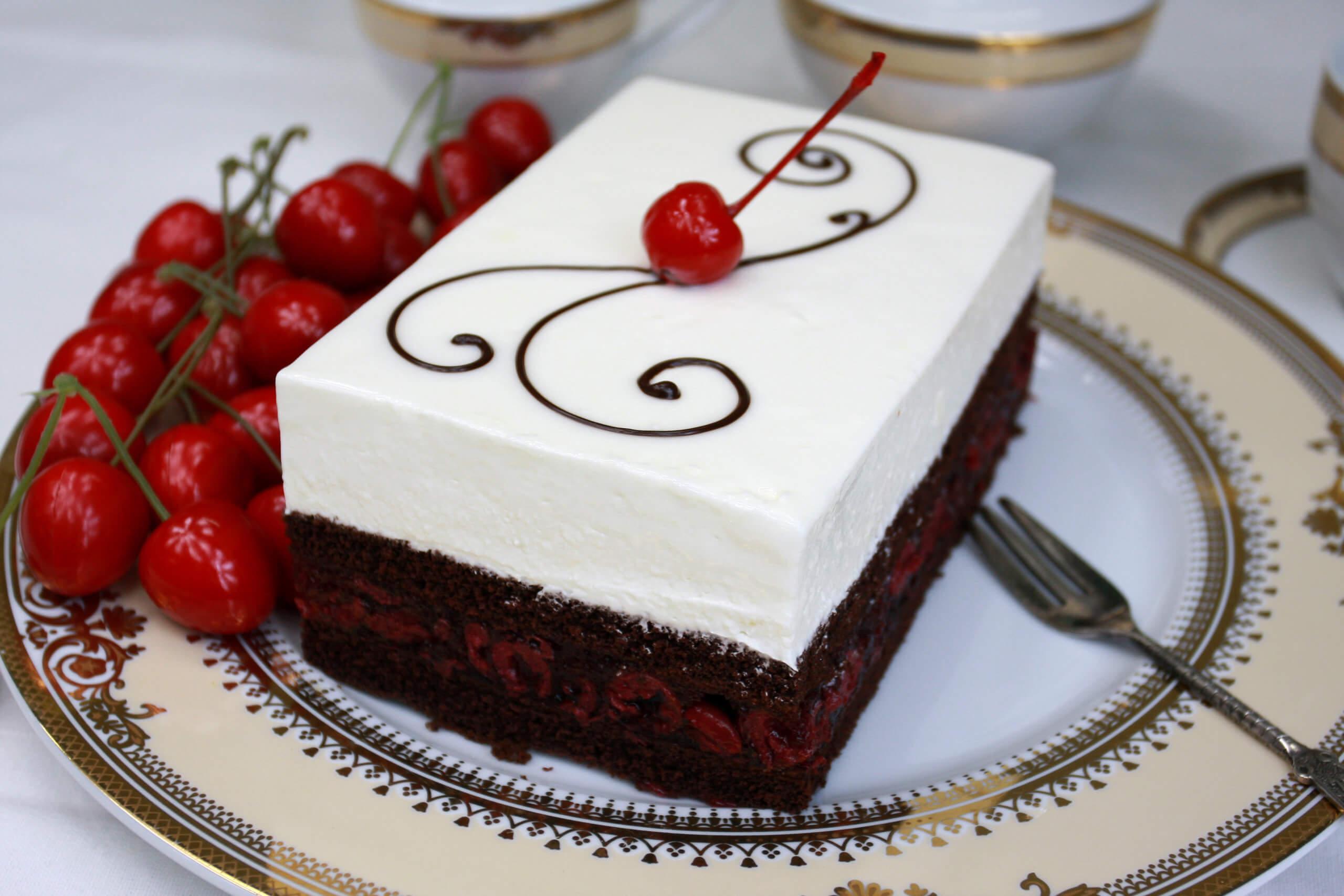 Ciasto mascarpone z wiśniami